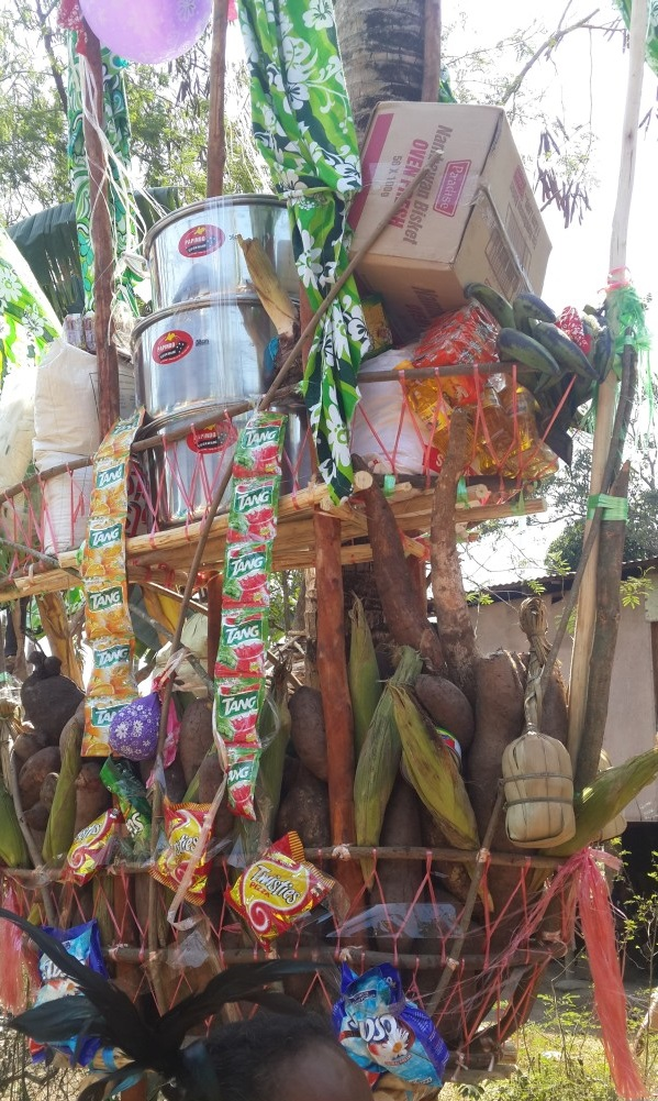 Store goods and garden produce for bride price.