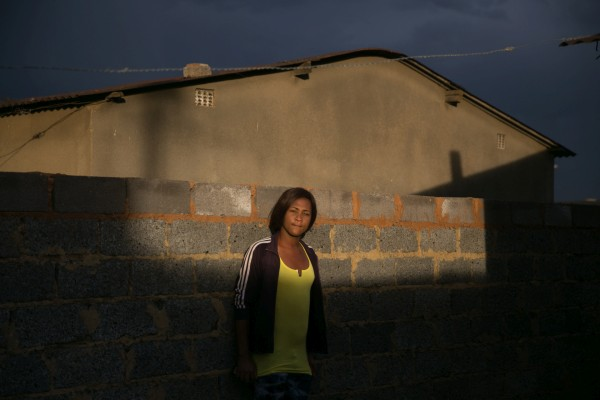 Bianca Laban, Duduzile's best friend in her neighborhood in Thokoza. Bianca is a transwoman and rape victim.