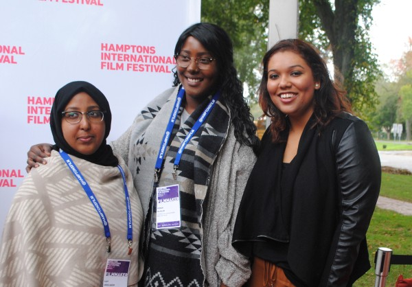 Kayf Abdulquadir, left, Hodan Hujaleh, center, and Siarrah Kane, at right