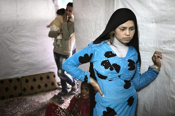 Syrian refugee Hened Al Ahmad, 14