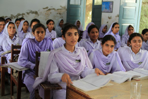 Girls in school in Khyber Pakhtunkhwa, Pakistan. Photo: Vicki Francis/Department for International Development
