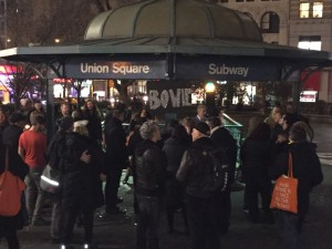 Union Square impromptu Bowie singalong about five days after he died