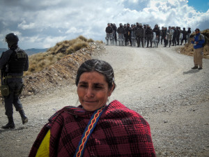 Máxima Acuña de Chaupe near her home in Cajamarca, 2014. Photo by Guaricha. License CC BY-NC 2.0.