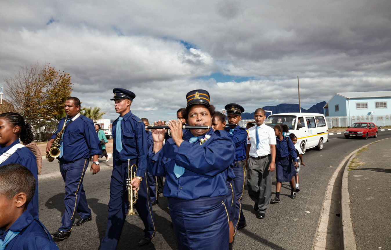 I'm second in charge of the Anglican church brigade in Manenberg and I play the flute, bugle, base drum and drums. If I don't do a good job, they will demote me. Being a member of the church brigade gets me away from the normal life and situations I'm facing daily. I'm able to see the other person in me, being with children from all ages and different groups and families. To teach them and also to respect and appreciate the meaning of the church brigade. The children in our brigade come from everywhere within the community but they all come to our church becauseof the brigade. Other churches don't have brigades and uniforms like ours.  Sometimes people think the brigade is only to walk in the street and to play an instrument. But it's so much more.