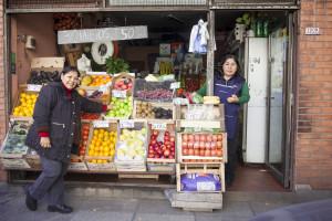 Marina y Nicol Quiñonez son de Bolivia. Foto de Hernán Alvarado