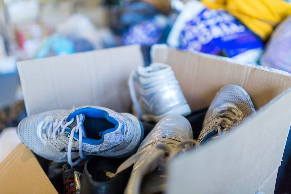 Donations of shoes and toys flooded in during the first week of the aid campaign.