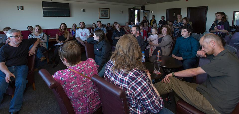 Around 75 people attend the inaugural DRS meeting at the Charleston Bar, Dundee.