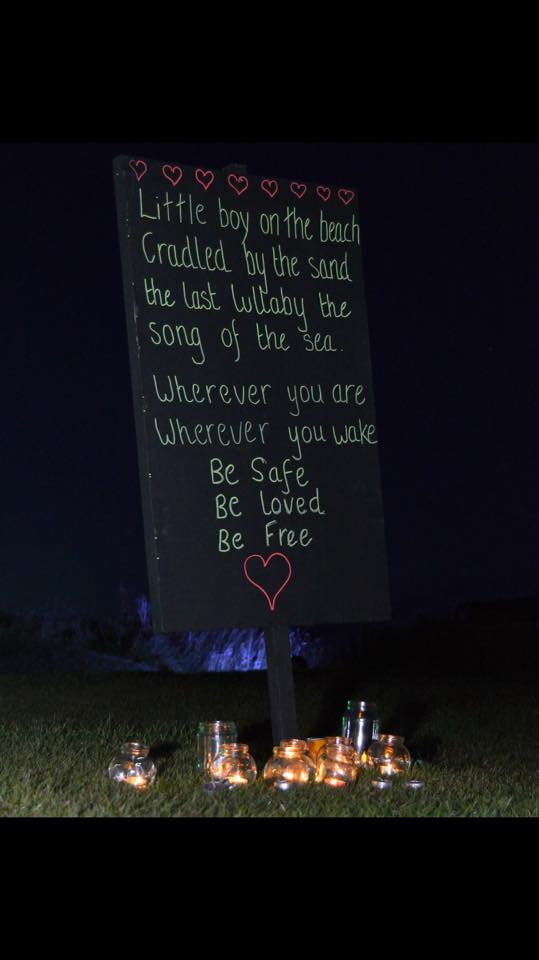 DRS members pay a poetic tribute to tragic toddler Alan Kurdi.