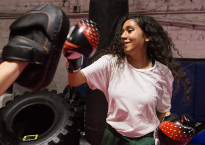 """""""When I think of She Fights, I think of being able to do something that's typically looked down on for a female to do—and that I'm just as good and even better than boys."""" –Shirley, 18"""