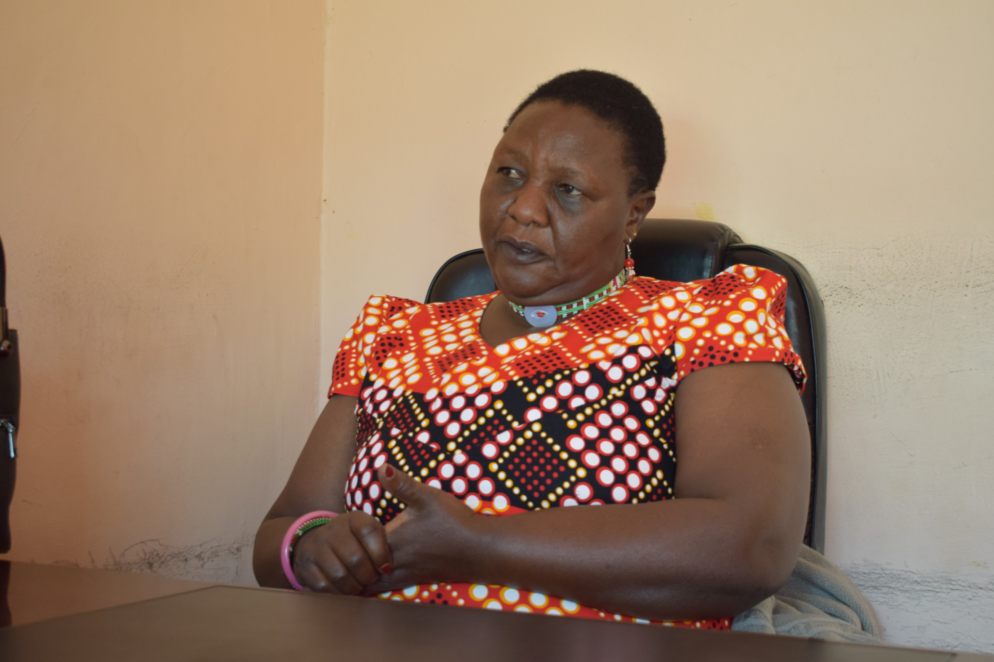 Ms Pareiyo, the Director and founder of the Tasaru Ntomonok initiative that rescues young girls from FGM and early marriages