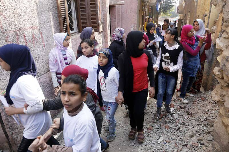 Girls take part in danger zone mapping exercise for Safer Cities project