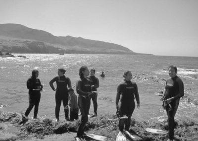 Monitor divers in Isla Trinidad