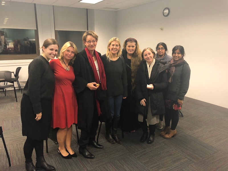 Gudrun Shyman (third from left) at NYU's Center for Global Affairs in November